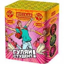 """Батарея салютов """"Гуляй, студент! """" 0,8"""" калибр 19 зарядов (РС6370)"""