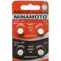 Батарейки часовые MInamoto G-5 LR754 (393) 1.5V, 1шт