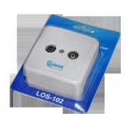 Розетка диплексорная TV/Радио, LOS-102 Lumax (наружная и внутренняя установка)