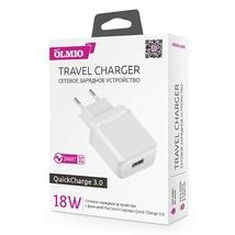 Сетевое ЗУ USB, 18W, 3A, QuickCharge3.0, OLMIO