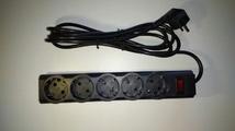 Сетевой фильтр Defender ES Largo черный, 5 розеток, 3.0 м