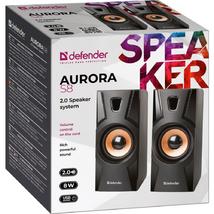 Акустическая система 2.0 Defender Aurora S8, 8Вт, usb, черный