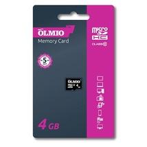 Карта памяти microSDHC 4GB Class 10 UHS-I, без адаптера, OLMIO