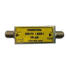 Усилитель в разрез кабеля (12v) DVB-T2 до 30db