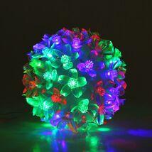 "Фигура ""Шар из цветов"" 10х10 см, пластик, 50 LED, 240V RG/RB¶"