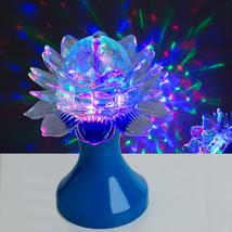 """Световой прибор хрустальный шар """"Цветок"""" диаметр 12,5 см, 220 В, СИНИЙ¶"""
