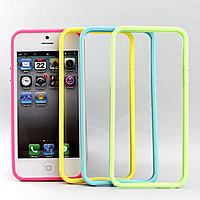 Бампер для iPhone 5 Griffin (прозрачный с цветными рамками)
