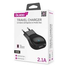 Сетевое ЗУ USB, 2.1А, OLMIO