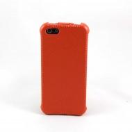 Чехол-книжка Chanel для iPhone 5 (кож. зам, оранжевый)