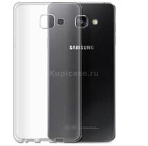 Бампер для Samsung A5 (2016) (прозрачный, силикон)