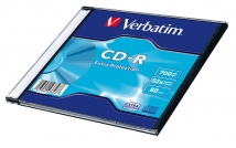 Оптический диск CD-R Verbatim 700Mb 52x DataLife Slim (1шт)