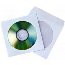 Конверт для дисков, бумажный, белый