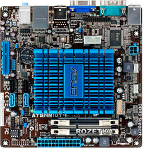Материнская плата Asus at5nm10t-i, mini-ITX, Intel Atom D525, Intel GMA 3150, DDR3x2 SO-DIMM (б/у)