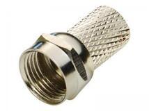 Разъем резьбовой для кабеля типа RG6, медь, с резиновым уплотнителем, 19мм