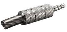 Разъем штекер Jack 3,5 (f) под обжим металл (3 контакта)