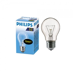 Лампа накал. A55 75W E27 230V CL Philips
