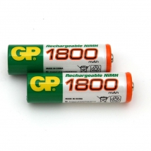 Аккумулятор AA/R6 GP (2-BL) Ni-MH 1800 mAh (20/160) цена за 1 штуку