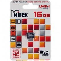 Карта памяти MicroSDHC MIREX 16Gb, class 10 UHS-I