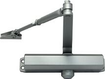 Доводчик дверной уличный VIZIT 505 до 120 кг (серебряный)