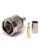 Разъем N типа (папа) под обжим для кабеля RG58/RG142/RG400/LMR195