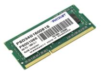Модуль памяти для ноутбука Patriot DDR3 - 4Гб 1600, SO-DIMM