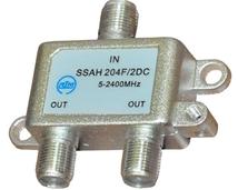 Делитель DC на 2 выхода (5-2400МГц) с проходом питания, для эфирного и спутникового ТВ (RTM)